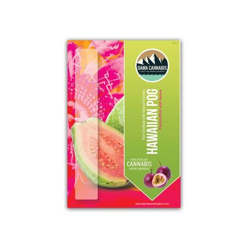Newest vapor cartridge card insert design for Dama Cannabis