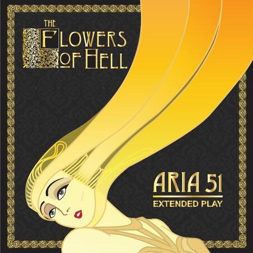 Album cover illustration inspired by Erte drawing
