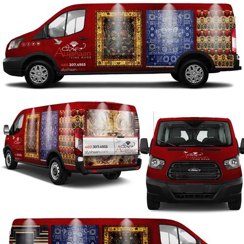 Carpet van wrap