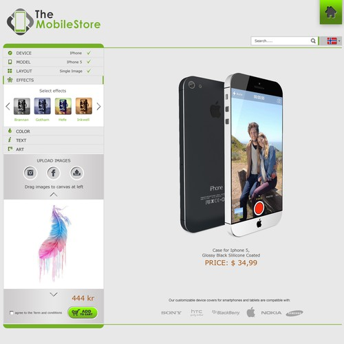 Design a mobile case designing tool