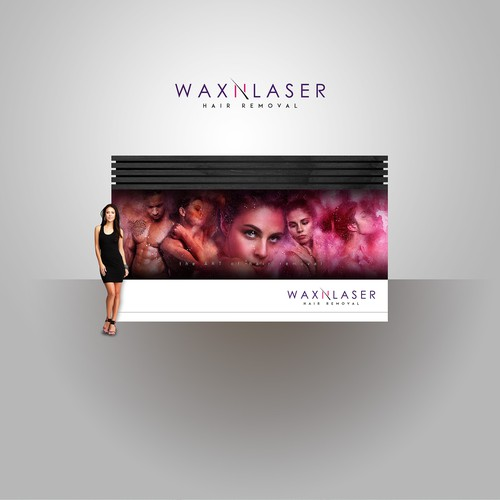 WaxnLaser Entrance Wall Mural