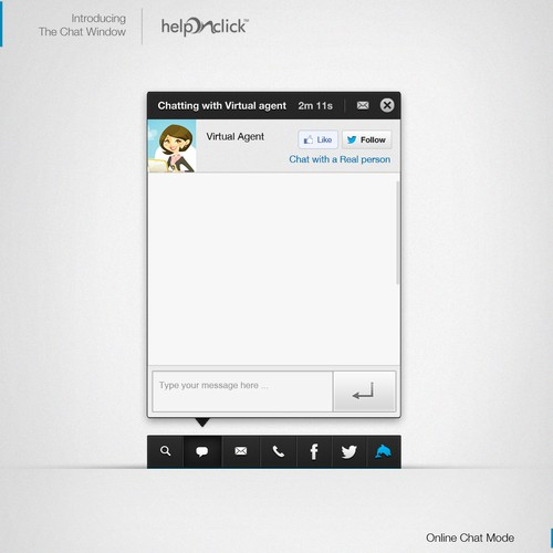 Widget design for HelpOnClick live chat
