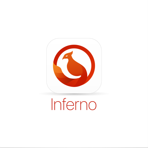 Clean and bold app icon design for Inferno.