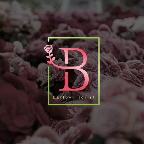 floral art and retail store logo