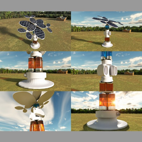 3D Illustration for Solar Fuels Institute - ARTIFICIAL TREE