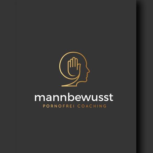 Mannbewusst logo design.