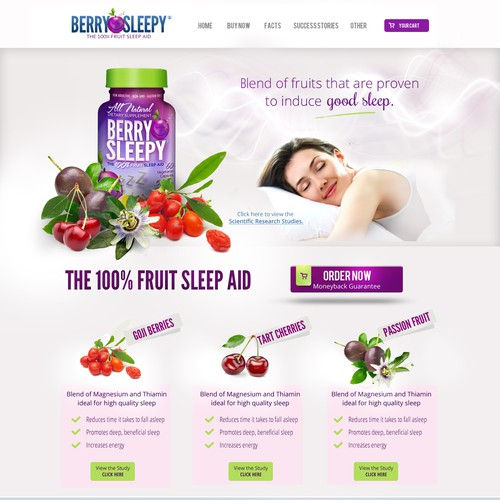 Design Dynamic eCommerce Site for BerrySleepy.com - The 100% Fruit Sleep Aid