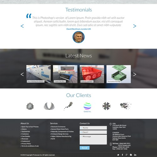 Website Re-design of a Worldwide Custom Enclosure Manufacturing Company