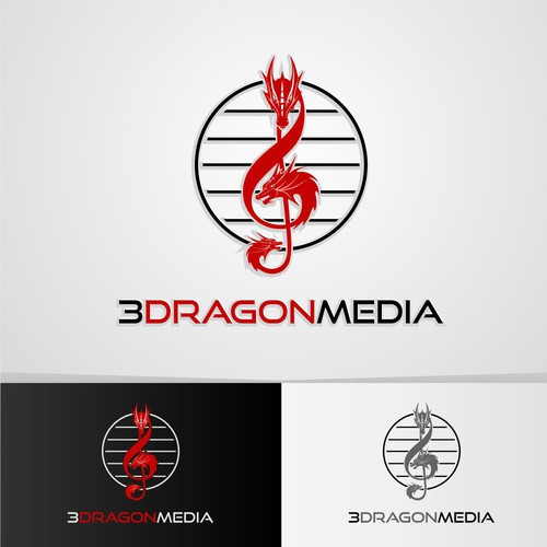 Logo design for 3DragonMedia