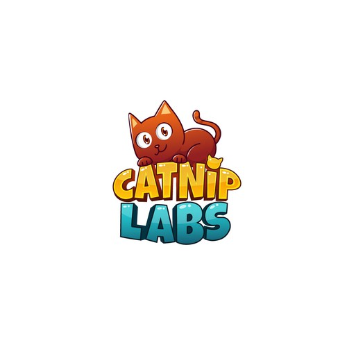 Fun cat logo for Catnip Labs