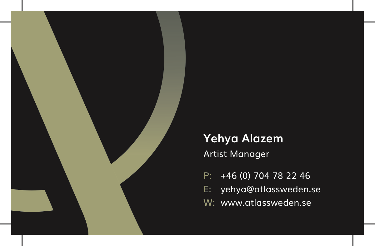 business cards atlas artists