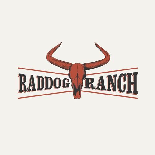 Farm Logo for a Yak Ranch: Raddog Ranch
