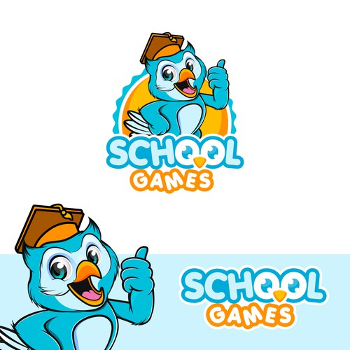 Friendly Mascot for School Games