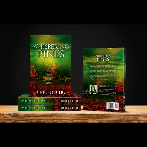 "Book cover for ""Whispering Pines"""