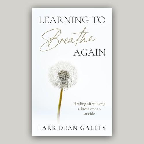Minimalist clean calm book cover design