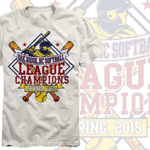 Softball League Championship Shirt