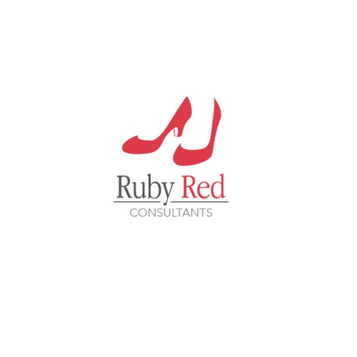 Bold and clean logo concept for Ruby Red consultants