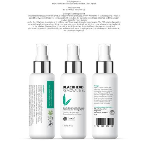 Blackhead removal gel packaging