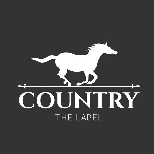 Create a bold/strong logo for 'COUNTRY THE LABEL' country clothing range