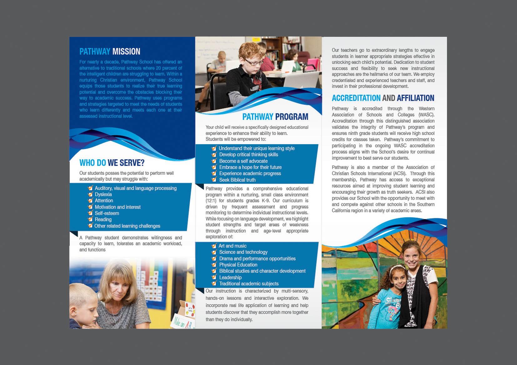 Help Pathway School with a new brochure design