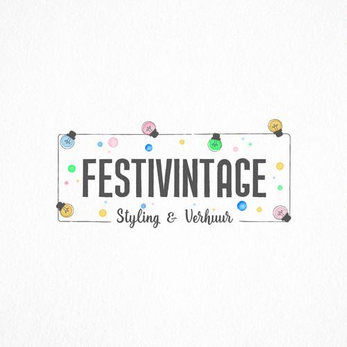 Festivintage logo design