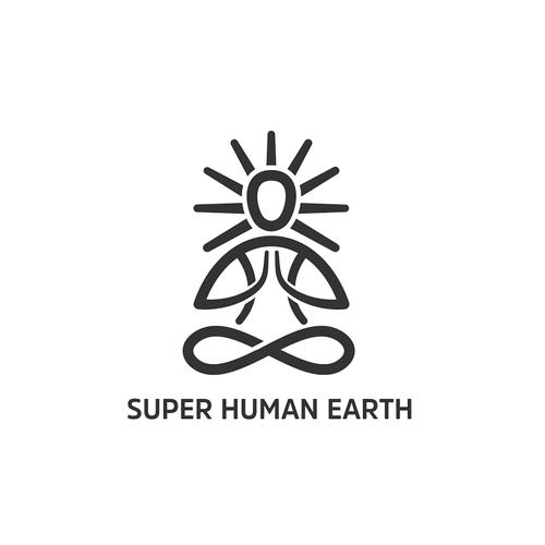 Create a logo for the Super Human Earth movement