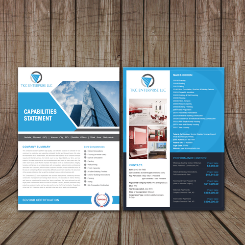Design a commercial construction flyer