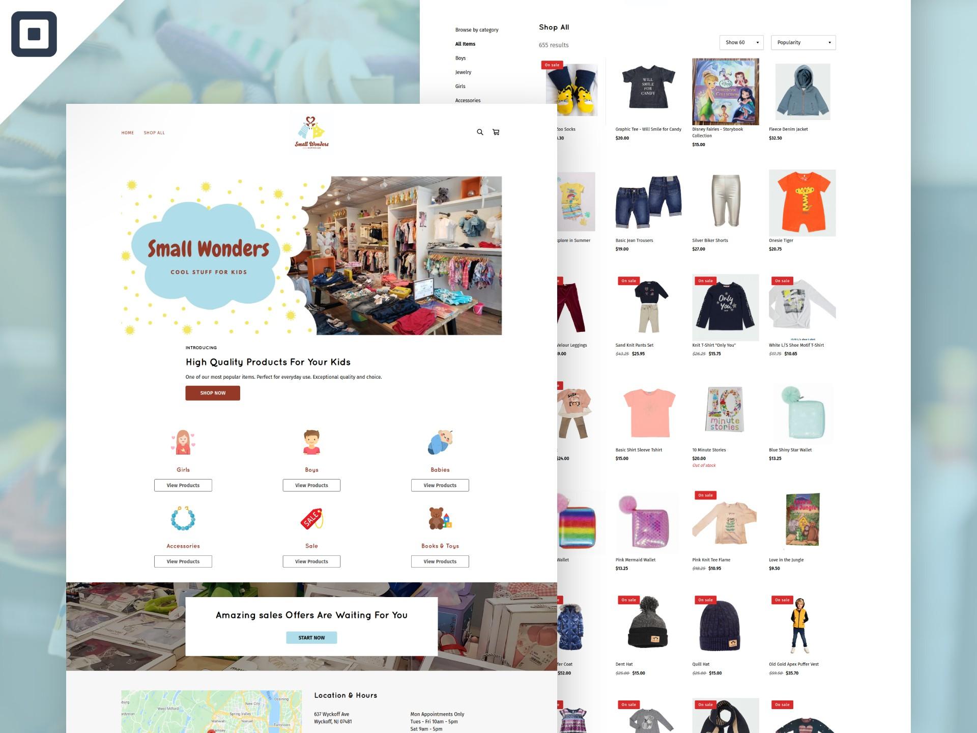 Small Wonders Website