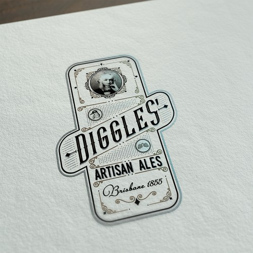 Nostalgic logo for small family brewery