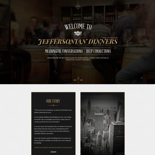 Homepage design for Jeffersonian Dinner