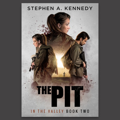 """""""The Pit"""" Post-Apocalyptic Book Cover Design"""