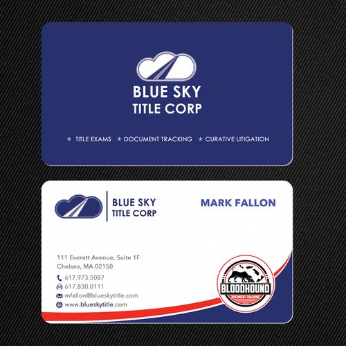 Business card for blue sky