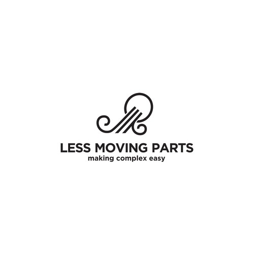 Design a smart logo for a new technology business - Less Moving Parts