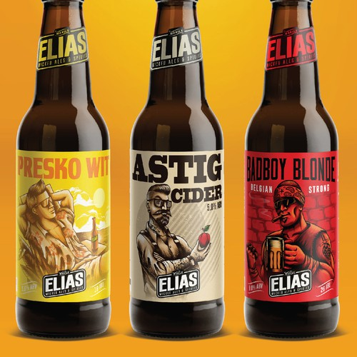 elias beer label design
