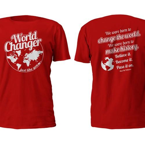 Change the World T-Shirt Design
