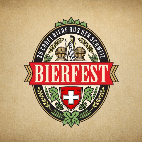 Logo for the largest beer festival in Switzerland