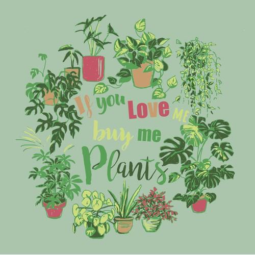 '植物恋人的主题插图(手绘)