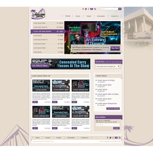 The Lakeland Center needs a new website design