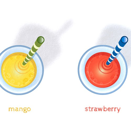 illustration of Smoothie juices