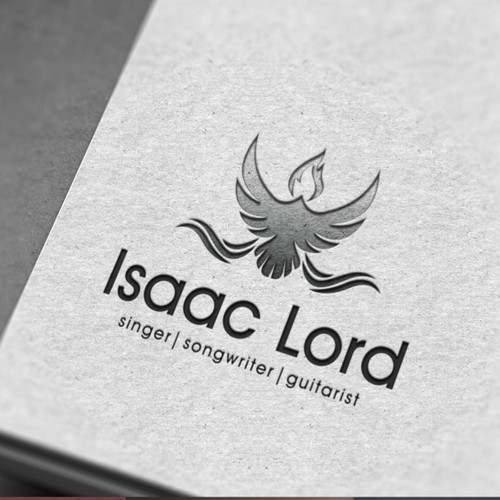 Create a powerful and inspiring logo and business card for singer-songwriter