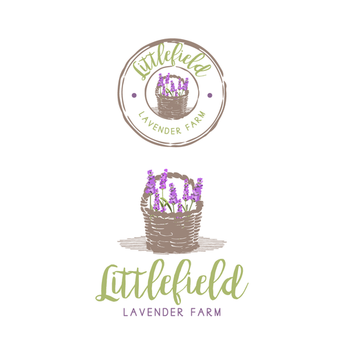 A lovely logo for a lavender farm.