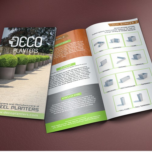Deco Planters Brochure Design