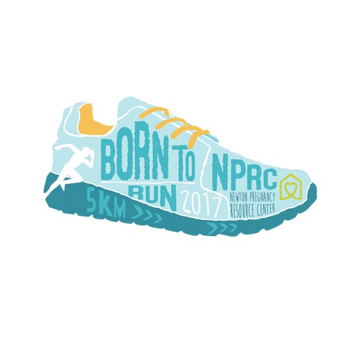 Logo for running event