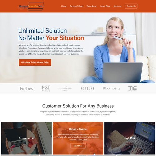 Fresh Website Design For Online Payments Solution!