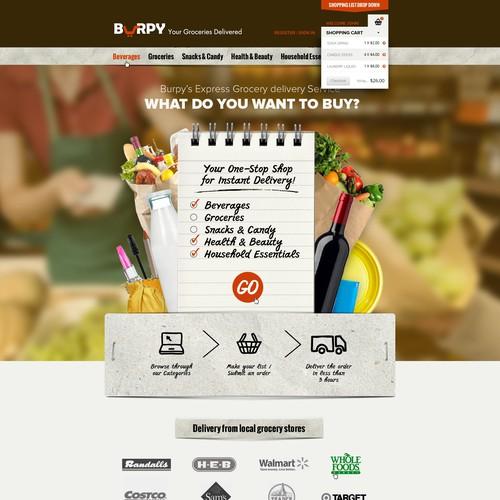 Re-design for Burpy Inc