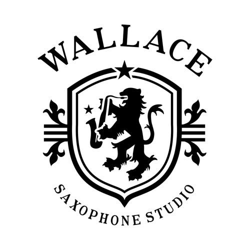 Traditional logo for saxophone studio