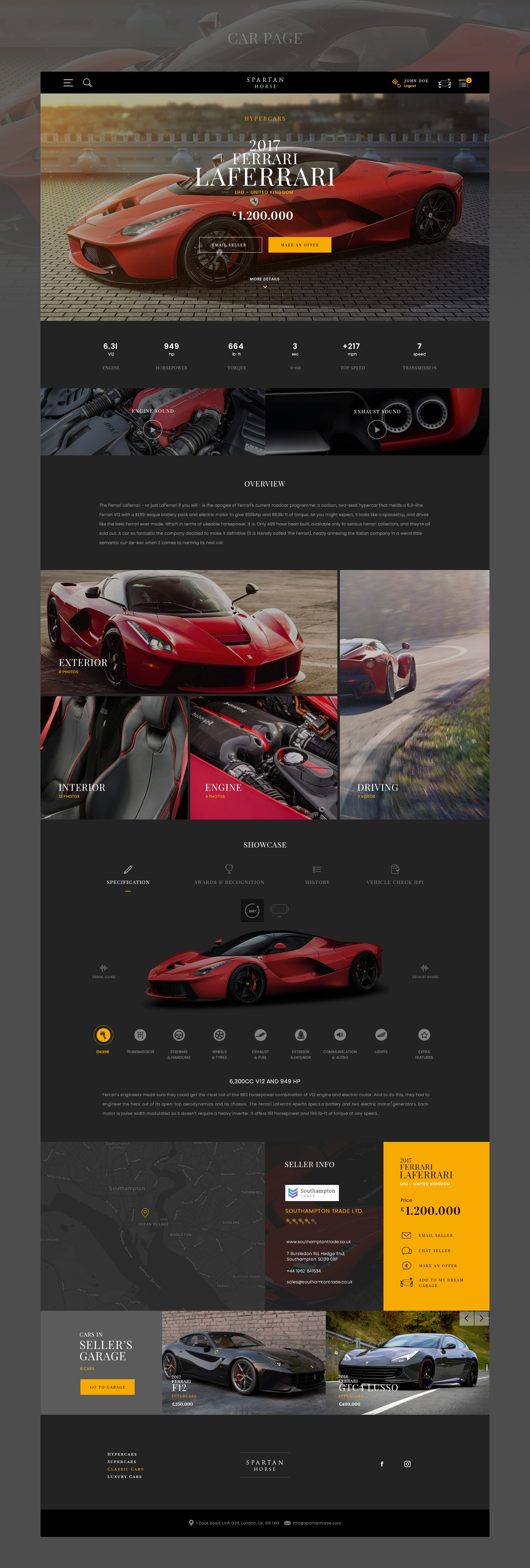 Big Project - SPARTAN HORSE needs a Website for SuperCars Classified Search Engine.