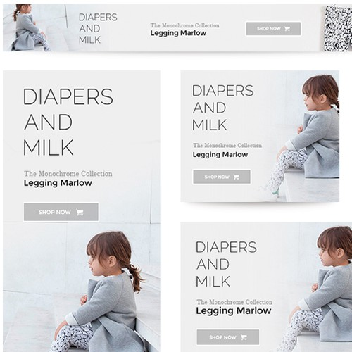 Diapers and Milk ads