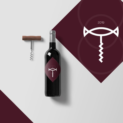 Wine Branding includes corkscrew.