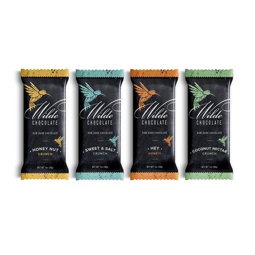 Organic Chocolate Bar Label Design